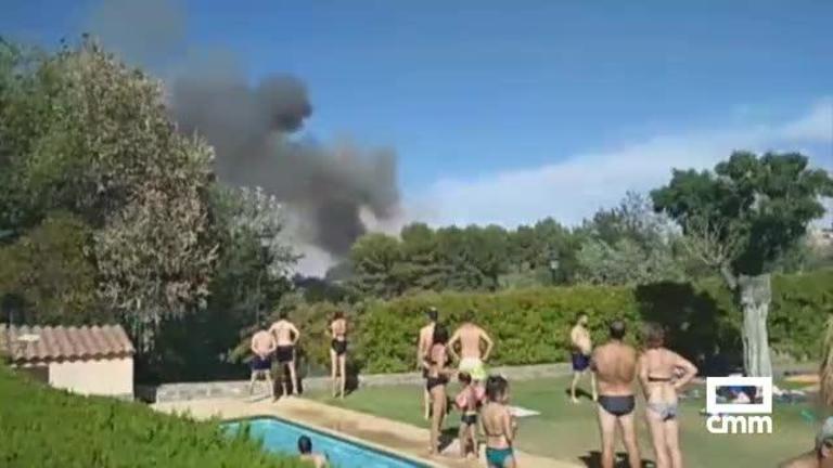 Vídeo: Incendio en la zona de la Fábrica de Armas de Toledo