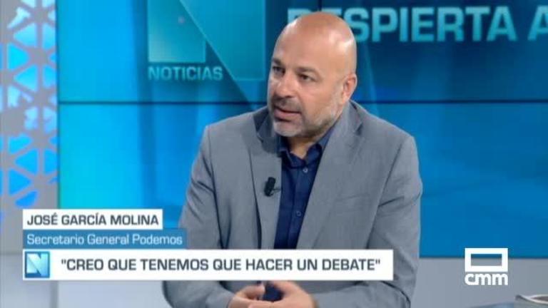 """Molina (Unidas Podemos) en CMM: """"Hay que reeditar la fórmula de Gobierno progresista"""""""