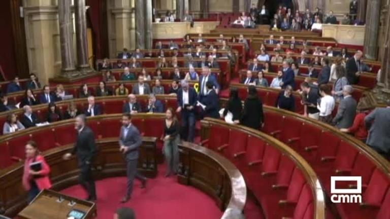 El Parlament desafía al Constitucional y vota la moción de autodeterminación de la CUP