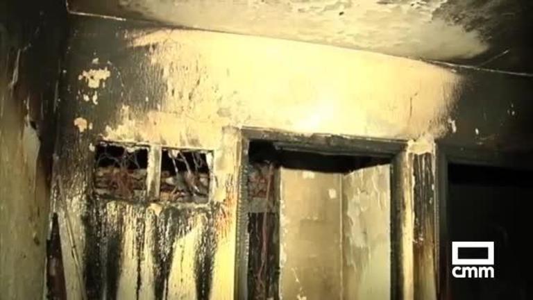 Un voluntario de Protección Civil, afectado por un incendio en Albalate de Zorita