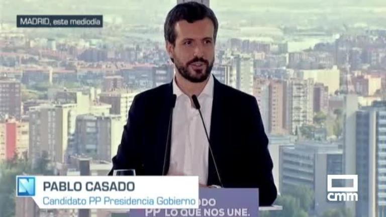 PP: La caravana de Casado no se detiene por el debate de mañana; Núñez viajará a Bruselas
