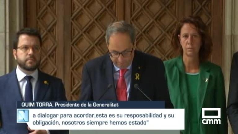 Sánchez rechaza el diálogo con Torra hasta que condene la violencia y reconozca el trabajo de los agentes