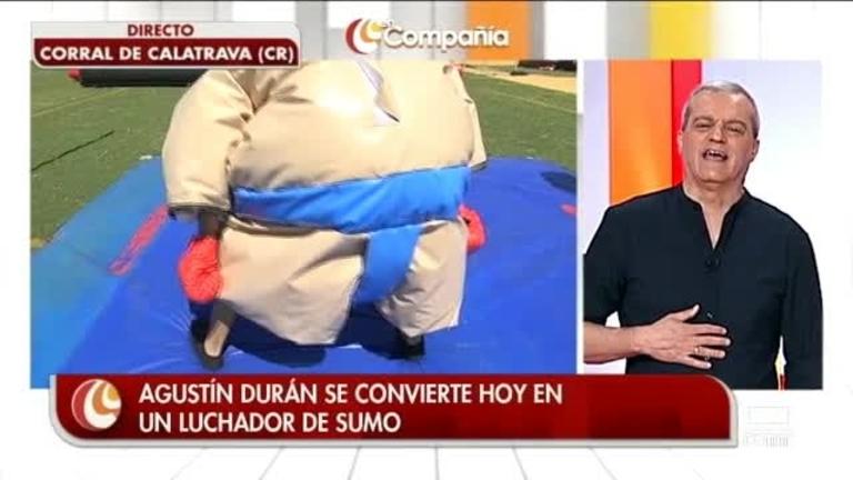 Agustín Durán practicando deporte