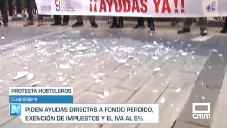 Nuevas protestas de los hosteleros de Ciudad Real y Guadalajara para reclamar ayudas directas