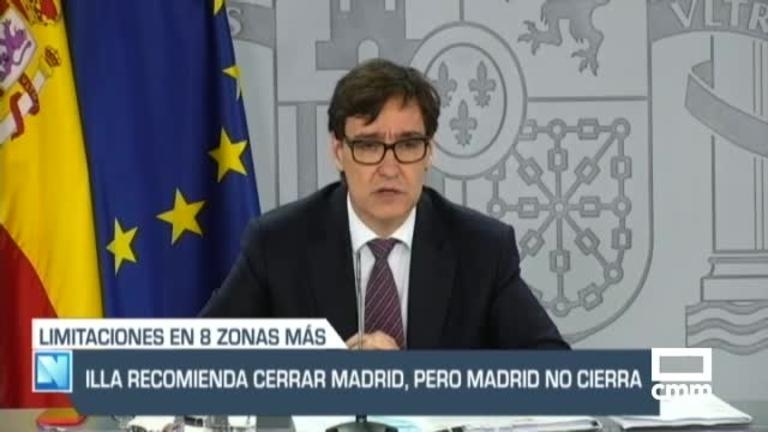 Madrid desoye la petición de medidas especiales del Gobierno, y otras noticias de Castilla-La Mancha