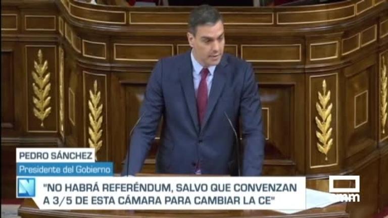 Sánchez explica en el Congreso su apuesta por los indultos de procés