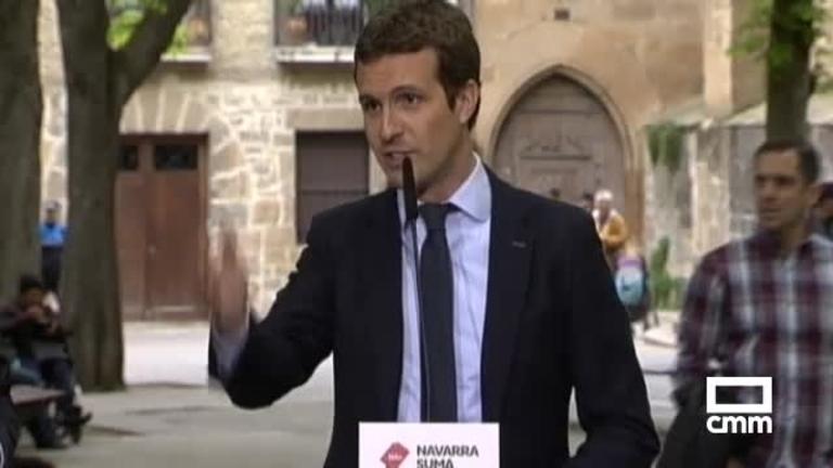 PP: Casado denuncia en Pamplona los escraches que sufren algunos partidos