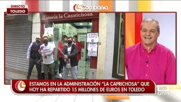 Agustín Durán celebra la lotería