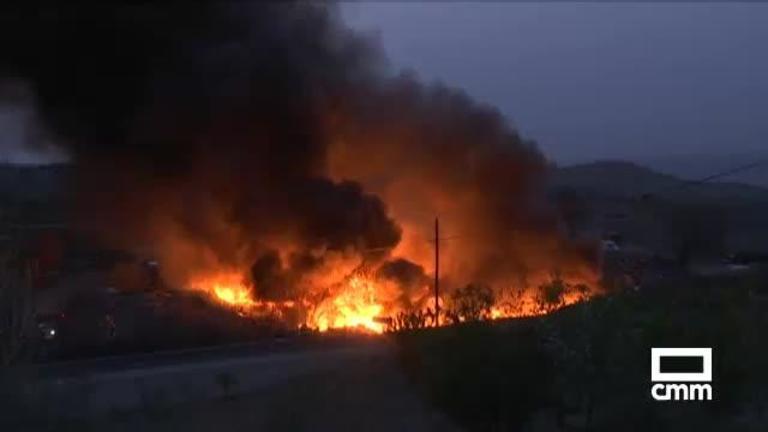 Controlado el incendio en el Cerro de los Palos (Toledo), que podría ser intencionado