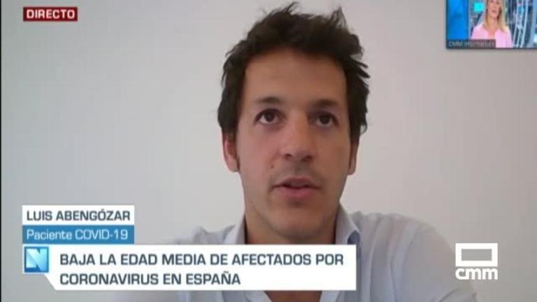 Luis Abengózar,  joven paciente Covid, en CMM: