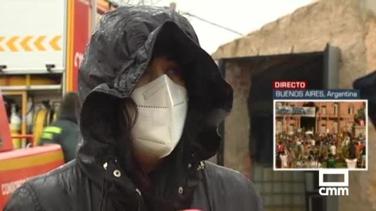 Incendio en Adobes (Guadalajara): tres casas afectadas, dos bomberos atendidos