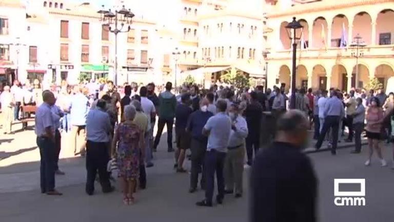Viticultores protestan en Villarrobledo por el bajo precio de la uva