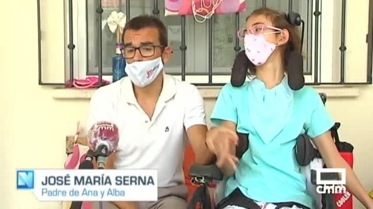 Una niña de Tomelloso no acudirá al colegio para proteger del coronavirus a su hermana con parálisis cerebral