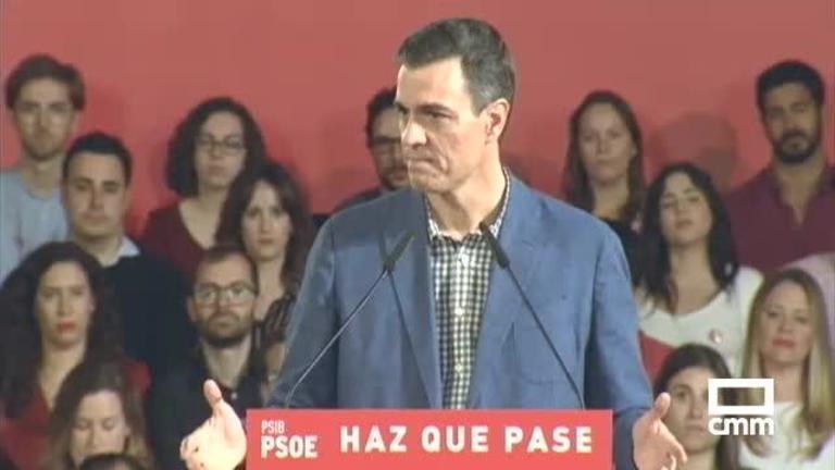 PSOE: Pedro Sánchez en Baleares y Emiliano García-Page en Alcaudete