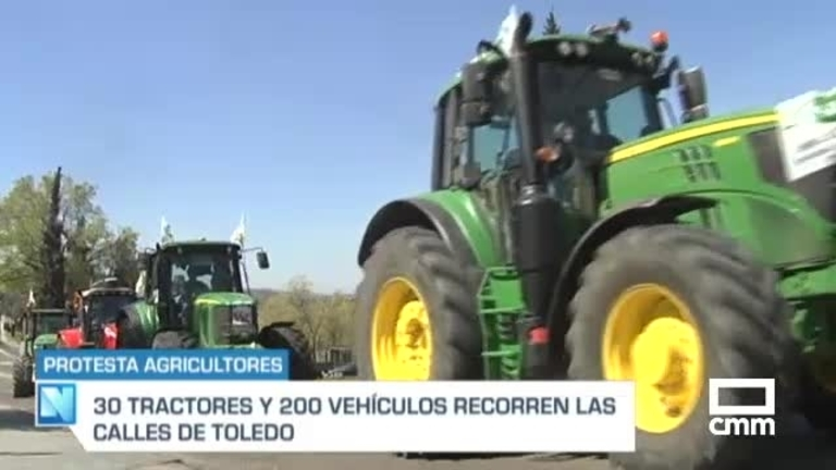 Tractorada en Toledo: Unión de Uniones CLM piden parte de los fondos de recuperación de la UE