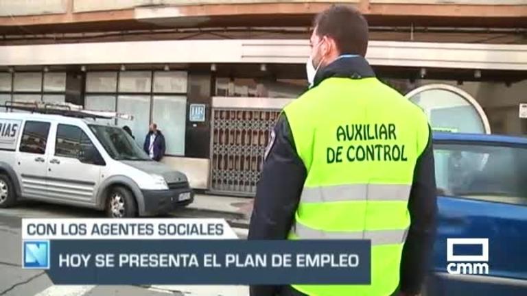 García-Page presenta el Plan de Empleo 2021 junto a los agentes sociales