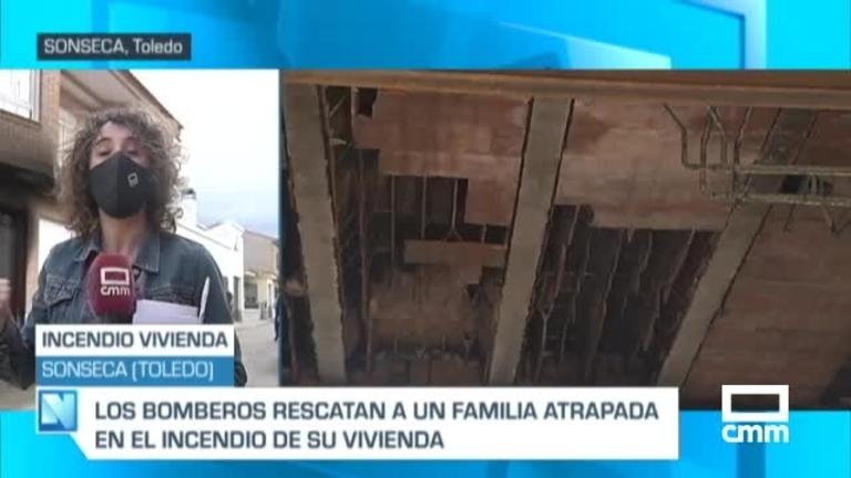 Tres afectados en el incendio de una vivienda en Sonseca (Toledo)