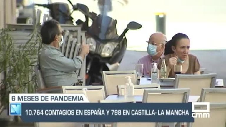 Seis meses de pandemia: España, inmersa en la segunda ola, y otras noticias de Castilla-La Mancha