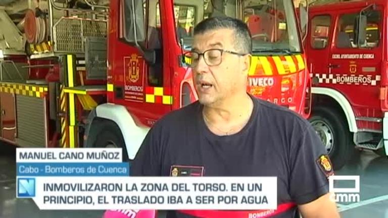 Rescatada una mujer de una poza del Ventano del Diablo y llevada al hospital de Cuenca