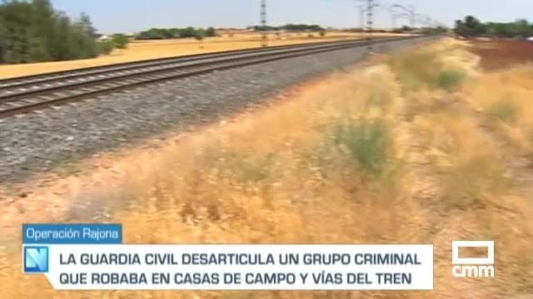 Robaban en casas de campo y en la vía férrea Manzanares-Badajoz: hay cuatro detenidos acusados de 32 delitos