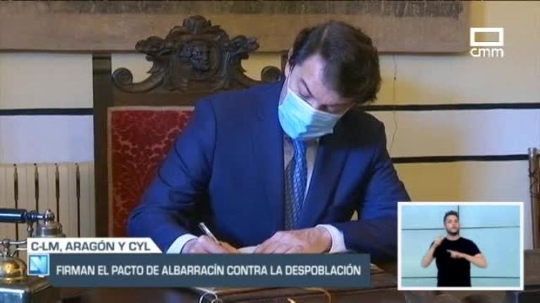Castilla-La Mancha, Castilla y León y Aragón sellan el Pacto de Albarracín
