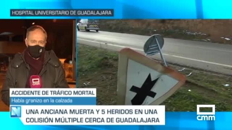 Un fallecido y cinco heridos en un accidente de tráfico en Guadalajara