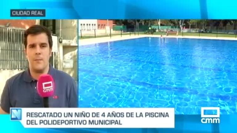Rescatado un niño de cuatro años sumergido en una piscina en Ciudad Real