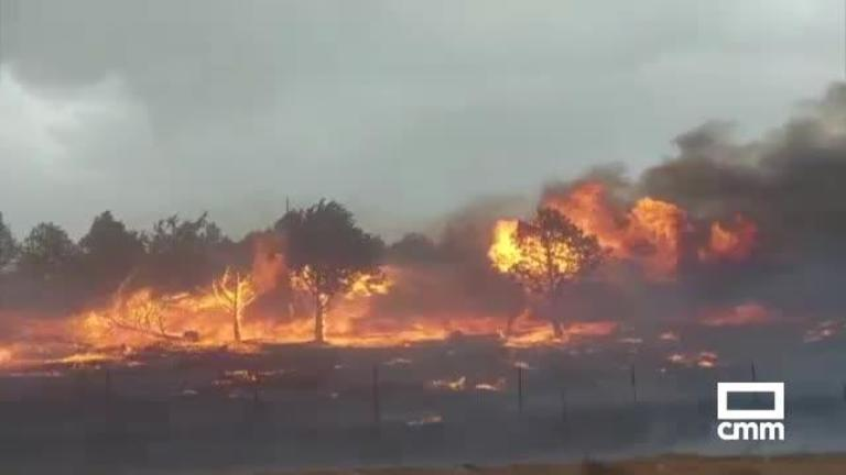 Declarado un incendio forestal de Nivel 1 en Viso del Marqués (Ciudad Real)