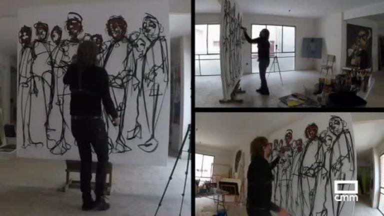 El artista Ángel Barroso Crespo expone su obra en el Museo del Quijote de Ciudad Real