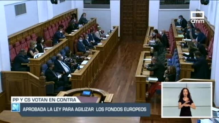 Aprobado el proyecto de ley que agilizará la llegada y entrega de los fondos europeos en Castilla-La Mancha