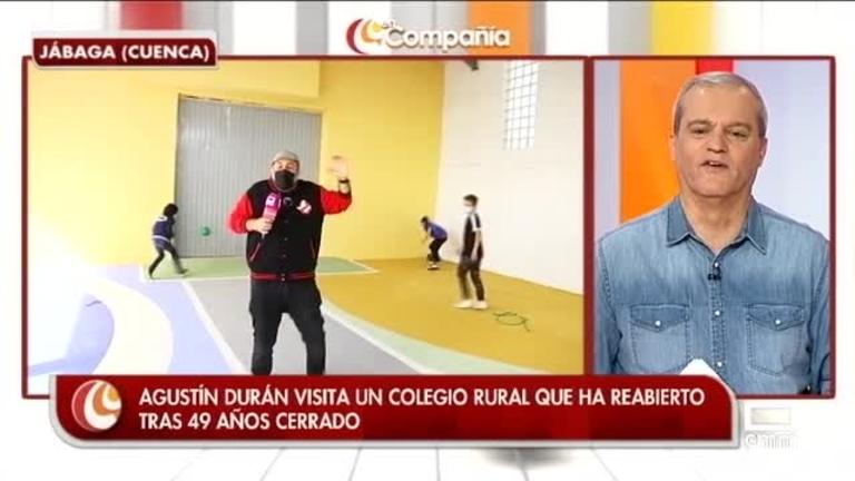 Agustín Durán visita un colegio rural