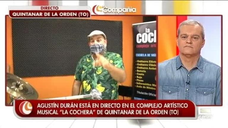 Reto de Agustín Durán: tocar la batería