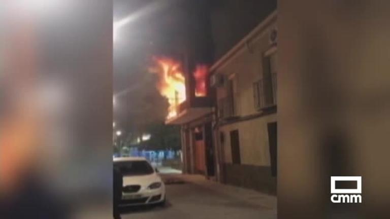 Una fogata, causa del incendio de un edificio en Talavera