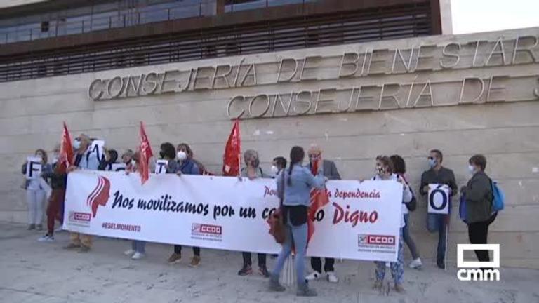 CC OO reivindica mejoras laborales para los trabajadores de residencias en Castilla-La Mancha