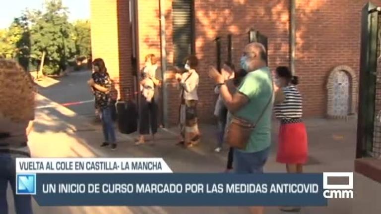 Aplausos, música, mascarillas en la vuelta al cole en la región, y otras noticias de Castilla-La Mancha