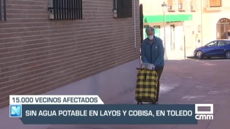 Sin agua potable en Layos y Cobisa, y otras noticias de Castilla-La Mancha