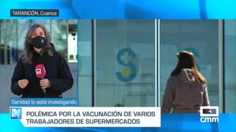 Investigan la vacunación de personal de supermercados en Tarancón (Cuenca)