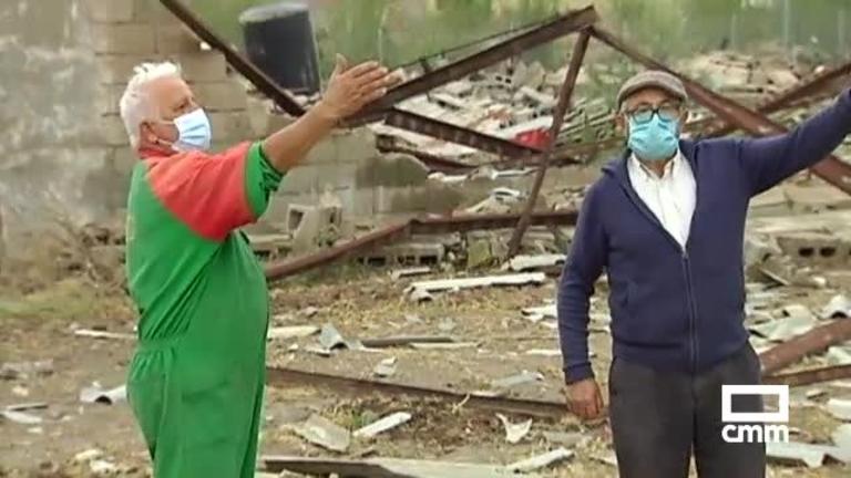 Numerosos destrozos en Santa María del Campo Rus por las tormentas