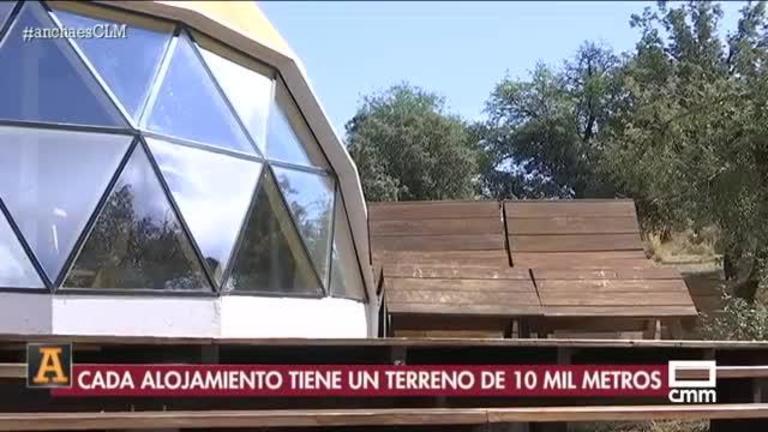 Un hotel burbuja con vistas a los Montes de Toledo