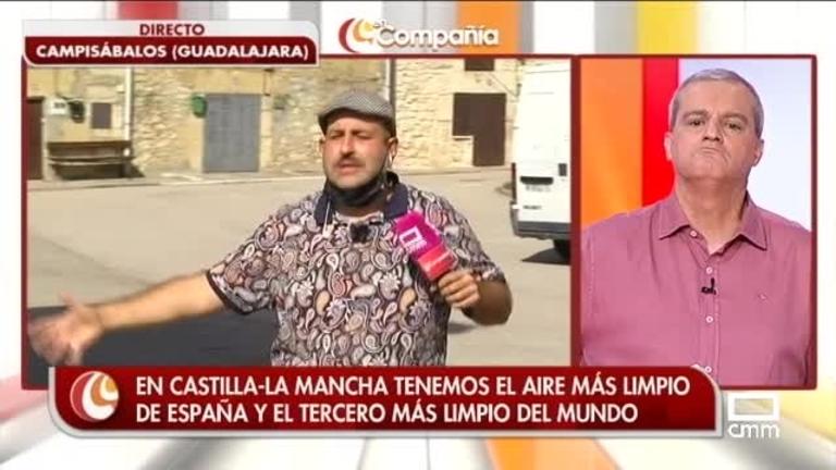 Agustín visita Campisábalos para respirar su aire