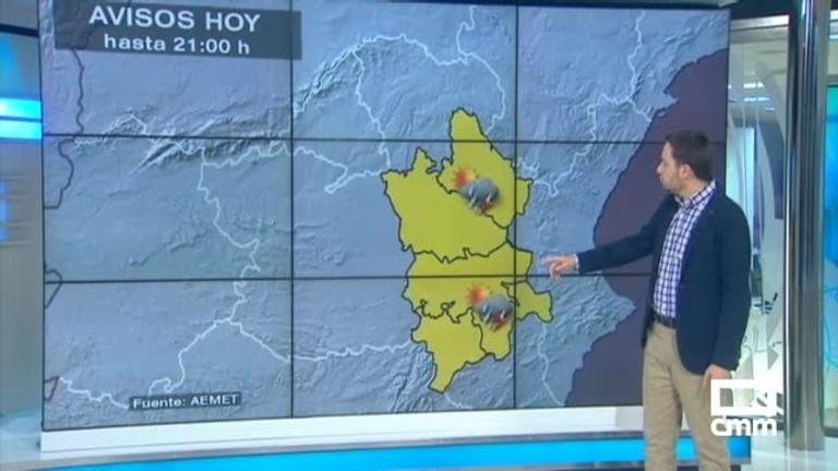 Aviso amarillo por tormentas, con posible granizo, en las provincias de Cuenca y Albacete