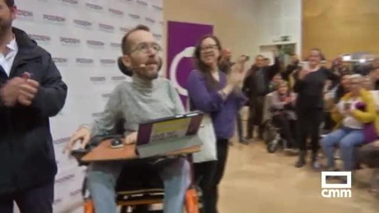 Unidas Podemos: Echenique pide el voto para abordar la situación en Cataluña