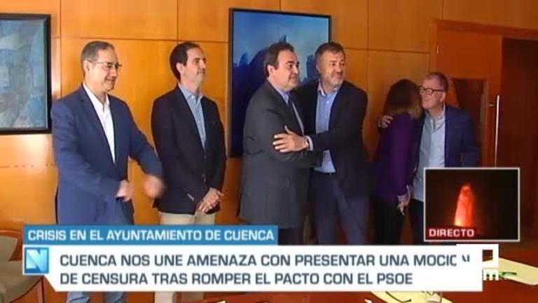 Cuenca Nos Une amaga con presentar una moción de censura contra Dolz, que defiende su gestión