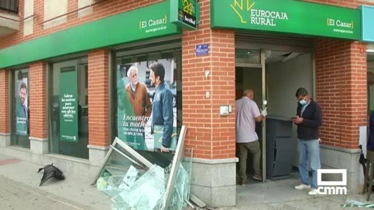 Intento de robo por alunizaje en una entidad bancaria de El Casar (Guadalajara)