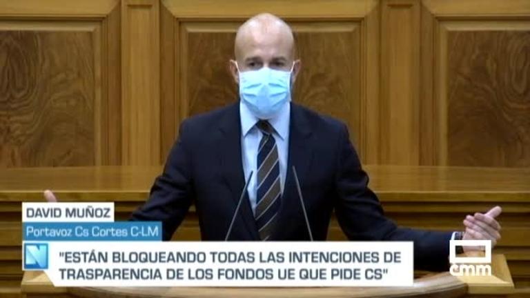 Pleno de las Cortes: enmienda a la totalidad de Cs a ley de gestión fondos europeos