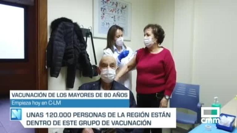Arranca la vacunación para los mayores de 80 años en Castilla-La Mancha