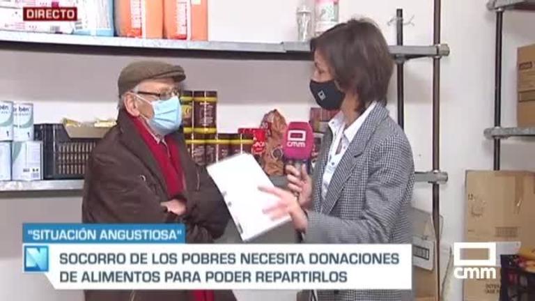 Llamamiento de Cipriano, ONG Socorro de los Pobres en Toledo: necesitan alimentos