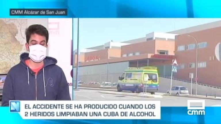 Heridos dos trabajadores al caer a una cuba en una alcoholera de Madridejos