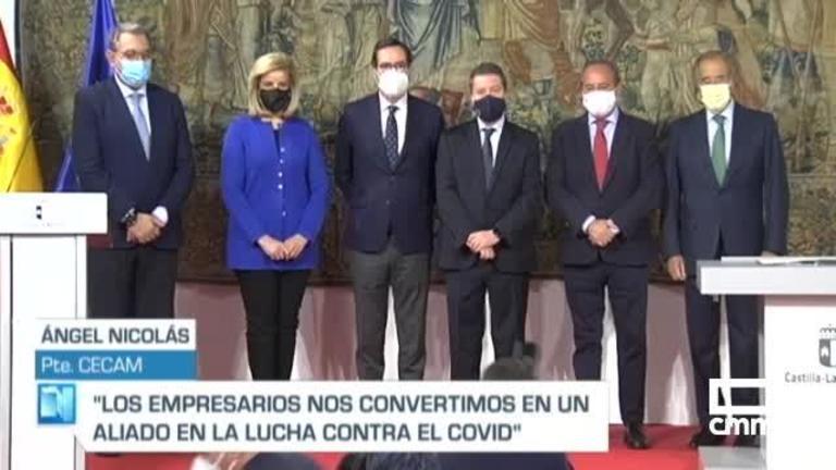 Castilla-La Mancha se suma al convenio para impulsar la vacunación y test en centros de trabajo